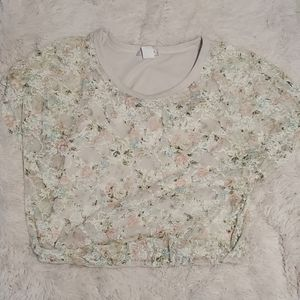 Wet seal lace floral top size large